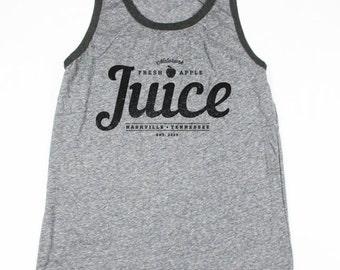 Mens Tank Top - Mens Gray Vintage Apple Juice Tank - Eco-Heather - Vintage Style Shirt - Small, Medium, Large, XL