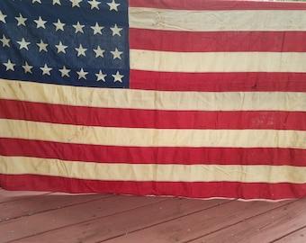 """48 Star American Flag  47"""" x 70"""""""