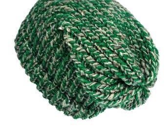 Slouchy knit hat green beanie hat dreadlock hat knit beanie hat slouchy beanie woman knit hat man winter beanie hat dreadlock tam