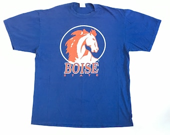 90s Boise State Vintage Shirt - Size XL Faded Vintage Boise State T-Shirt - 80s 90s Vintage Boise State University BSU