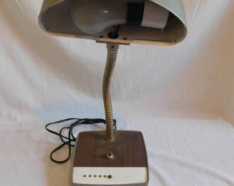 Vintage Industrial Mid Century Modern Goose Flex Neck Desk Lamp