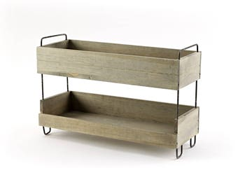 Narrow Tiered Display Stand - Shelves. Shop display. Floor display. Point of sale. - SP324