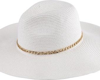 Sun Styles Paper Straw Wide Brim Sun Hat - AH-052