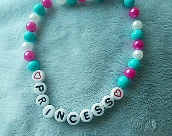"Handcrafted ""princess"" bracelet"