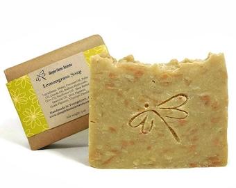 Lemongrass Soap, Handmade Soap, Essential Oil Soap, Vegan Soap, Gift under 10