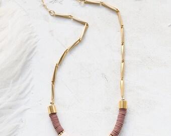Collier Bohème, Boho sautoir, collier Long, collier, sautoir, collier Bohème, à pompon Style Boho