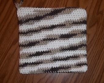 Potholder, cotton potholder, crocheted potholder, hot pad, home decor, trivet, crochet, housewarming gift