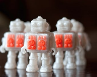 Robots from Space Soap - Set of 2 - Handmade Glycerin Soap
