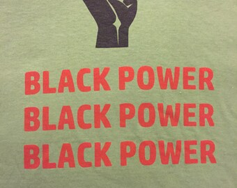 Olive Green Black Power