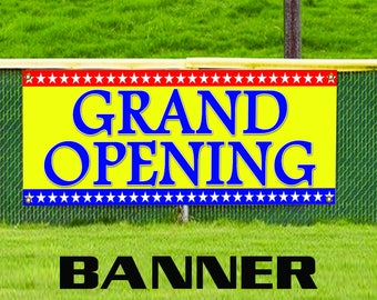 Grand Opening Promotion Open Store Shop Retail New Business Banner Sign