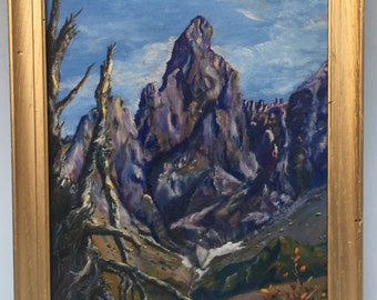 Victor Higgins (1884-1949) New Mexico Landscape Oil Painting