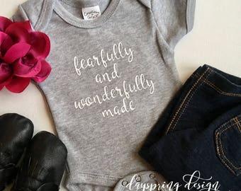 Baby girls' scripture onesie