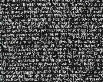 Architextures Black White Text - 1/2yd