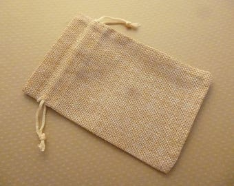 10x14cm lined - S-0647 burlap jewelry pouch