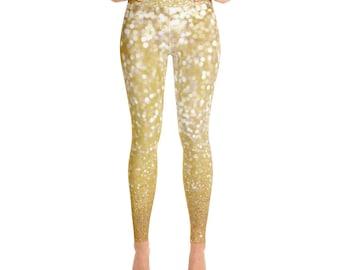 Gold Glitterati - Yoga Leggings