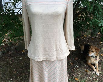 Vintage 2 Piece Top and Skirt Size Small