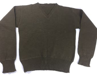 1949 Dated British Army Pullover Jumper in Green.