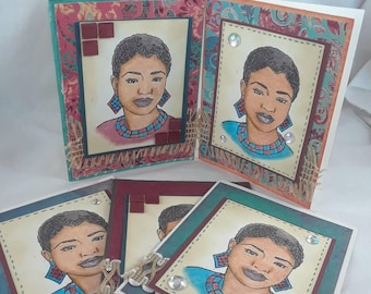Nubian Queen card set (Set of 8 cards)