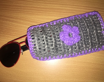 Crochet Plarn Phone or Sunglasses Pouch