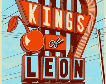 Official Kings of Leon Screen Printed Poster Columbus, OH 2017