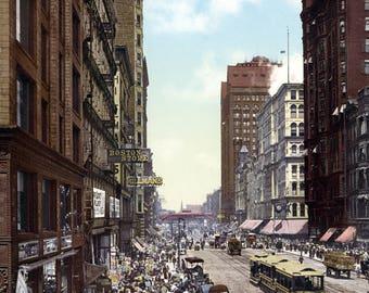 "1900 State St, Chicago, Illinois Vintage Photograph 8.5"" x 11"""