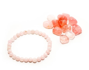 Crystal Love Rose Quartz Bracelet