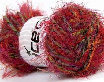 Techno Dumbo Red Grey Green, Alpaca Wool Yarn, Bulky Yarn, Chunky Yarn, Knitting Yarn, Crochet, Chunky Wool