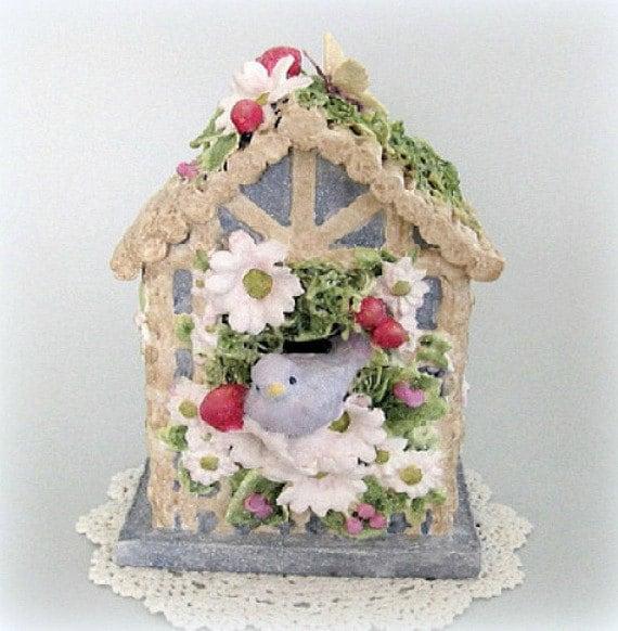 Baby Nursery Bird House Decor Blue Birdhouse Decor Blue Bird
