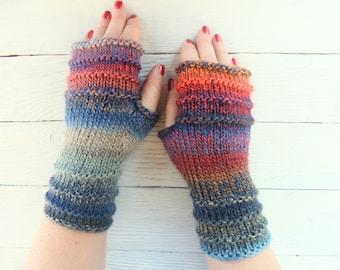 Wool Knit Gloves Fingerless Arm Warmers Winter Gloves Wool mittens Warm glovers