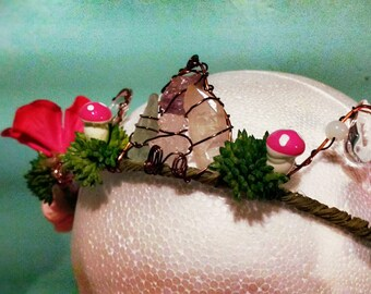 Flowing Faerie Flourite Crystal Crown
