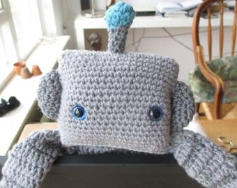 Robot ragdoll, Crochet robot lovey, Robot 'security blanket', Soft-toy for boy, Robot for toddler