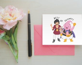 Best Friends Card, Greeting Card, Card for Best Friend, Geeky Card, Funny Card, Anime Card, Cute Card, Card for Friends: Best of Friends
