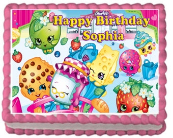 Shopkins Birthday Cake Topper CUPCAKE and 4 CAKE TOPPERS
