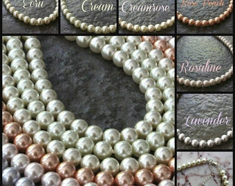 One Strand Pearl Necklace for Little Girl. You Select Color. Custom Wedding/ Special Event