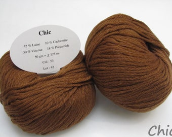 10 balls of wool and cashmere / brand / Tan