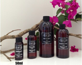 50ml Premium FRAGRANCE OILS for Candle Soap MAKING Melts Bath and Body aroma oil burners Lotions Wax Incense 100% Concentrated Scented Oil