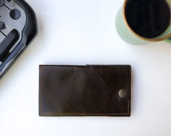 Leather iPhone Wallet - The Data Dave - Espresso Brown (color variations available)