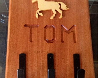 Personalised Horse bridle holder