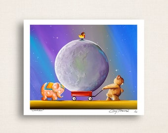 Caravan - when you have a wagon and a moon delivery - Limited Edition Signed 8x10 Semi Gloss Print (3/10)