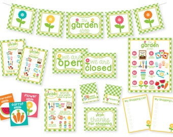 PRINTABLE Garden Shop Pretend Play Kit | Kids Pretend Play | Printable Kids Activities | Garden Party | Dramatic Play
