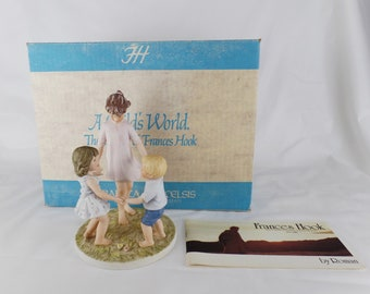 Ring Around The Rosie by Frances Hook with box Figurine 1983 A Childs World / Ceramica Excelsis by Roman