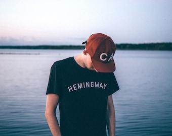 ERNEST HEMINGWAY Shirt, Ernest Hemingway, Ernest Hemingway Art, Hemingway Quote, Hemingway Print, Teacher Shirts, Teacher Gifts, Fitzgerald