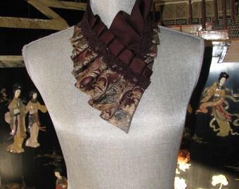 NEW - Necktie Ascot - Necktie Necklace - Silk ascot - Repurposed Necktie - Unique necktie