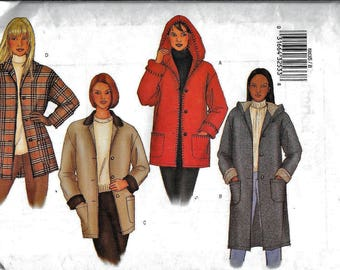 Butterick 6835 Coat Jacket Blazer Sewing Pattern Fleece UNCUT Plus Size 14, 16, 18