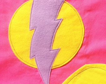Reversible Superhero cape for dressup or pretend play