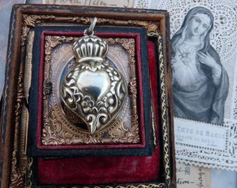Rare Antique Victorian Witches Heart, A Love Token for the Passionate, offered by RusticGypsyCreations