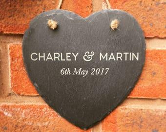 Wedding gift slate heart