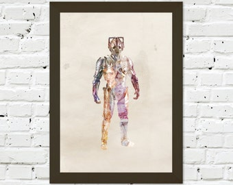 0039 Dr Who Cyberman A3 Wall Art Print Multiple Sizes