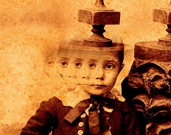 Creepy Little Child no 4...Open Edition - 7 x 5