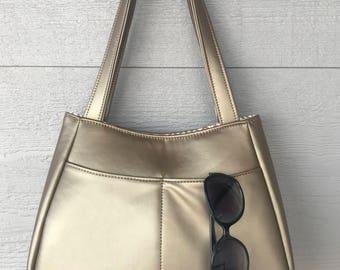 Gold Ethel Concealed Carry Handbag